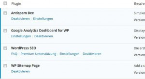Meine WordPress Plugins